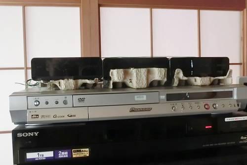 外付けハードディスクに卵ケースを使う