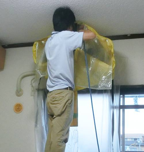 ダスキンの高圧洗浄でエアコンクリーニング