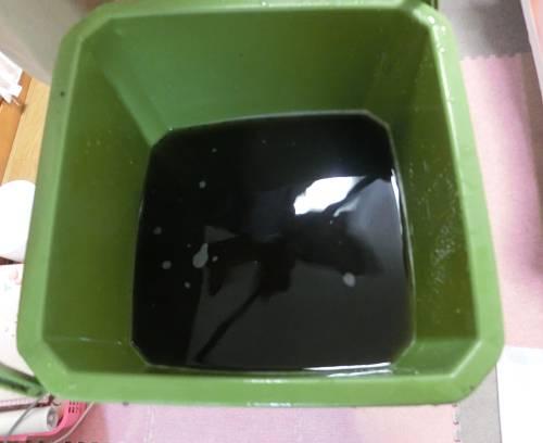 ダスキンエアコンクリーナー洗浄後の汚い水
