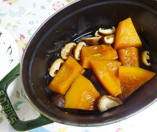staub(ストウブ)で作ったかぼちゃの煮物