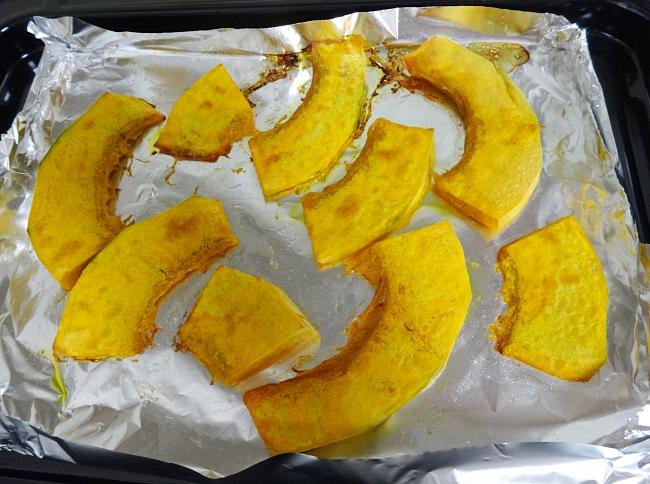 有機かぼちゃのオーブン焼き