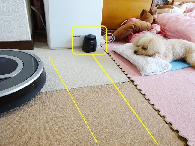 iRobot ルンバ(Roomba)バーチャルウォールの使い方