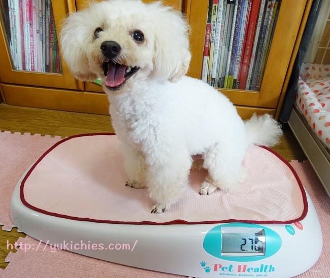2016年7月23日の諭吉の体重は2.70kg