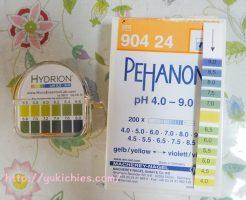 pHリトマス試験紙で犬の尿検査