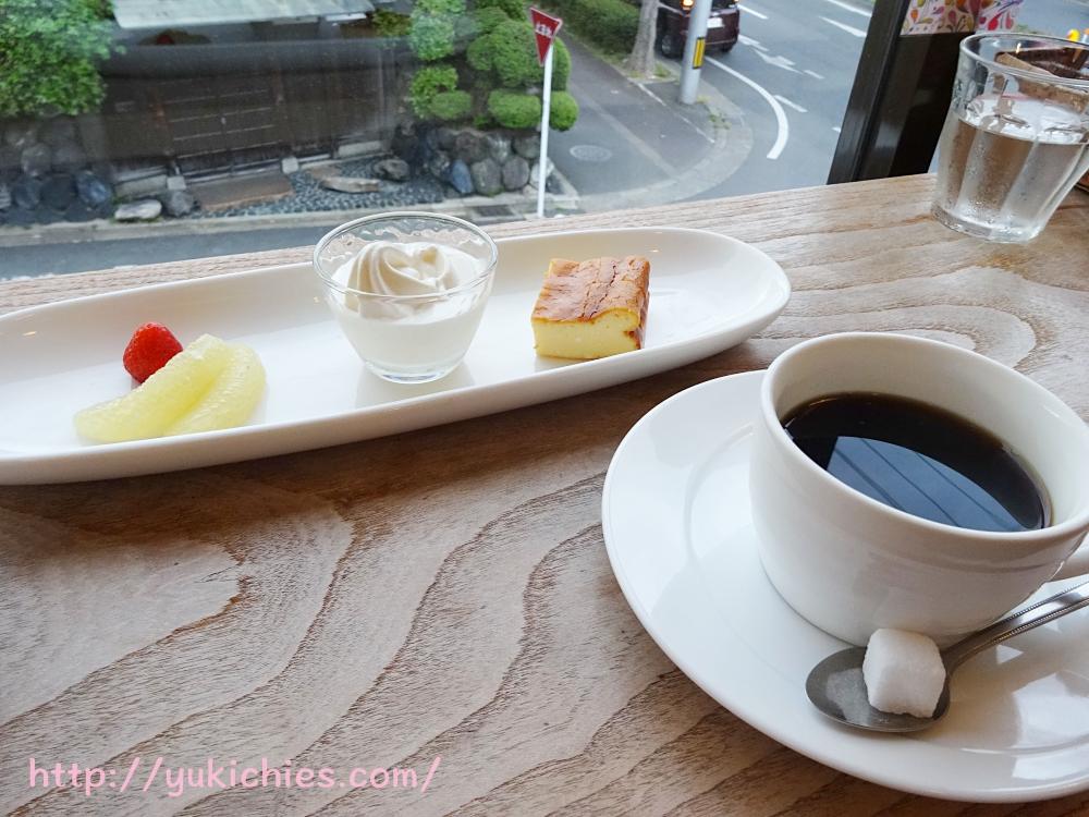 cafe sora 夕食の後のデザート