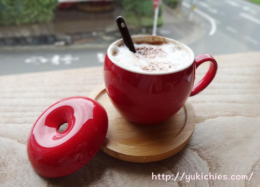 京都 衣笠金閣寺の近くにあるcafe sora & Dog salon Wonderful ホットチョコレート