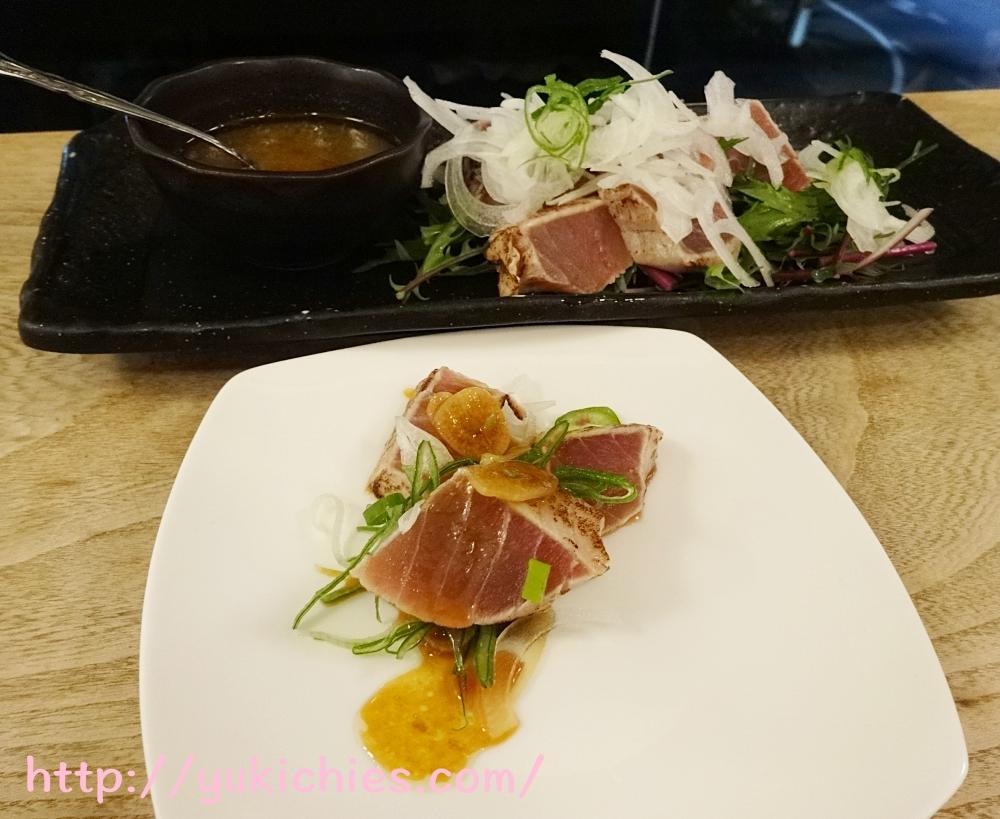 京都cafe sora 思風都 炙りマグロのにんにくソース