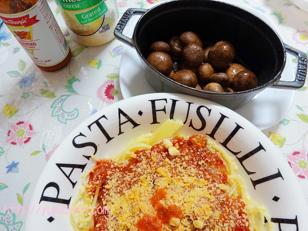 トマトとベーコンのスパゲッティー kaldi coffee(カルディー コーヒー ) La Preziosa ラ・プレッツィオーザ ダイストマト缶