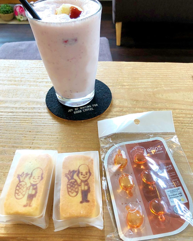 台湾のお土産 パイナップルケーキ アルガンオイル