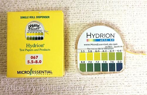 ロール式pH5.5~pH8.0リトマス試験紙