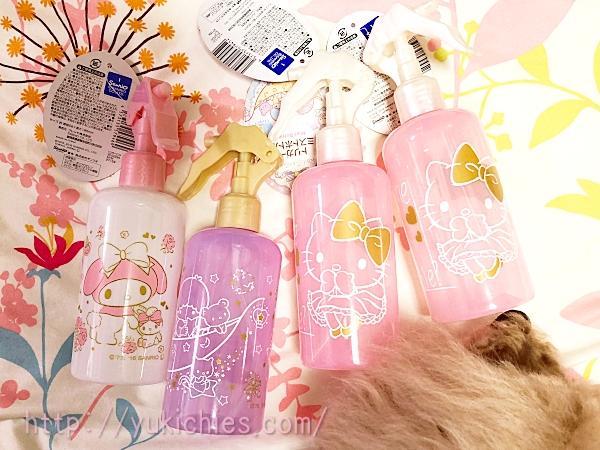 ダイソー商品 サンリオ Hello Kittyやマイメロやキキララのスプレー容器